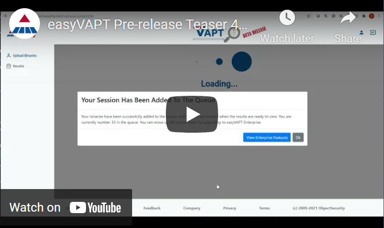 easyVAPT Overview